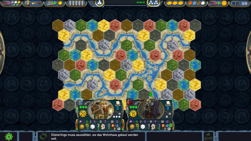 Spielbrett von Terra Mystica