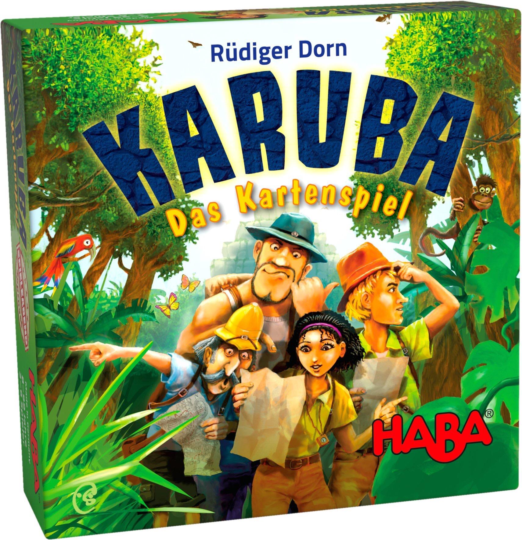 Packung des Karuba Kartenspiels von HABA
