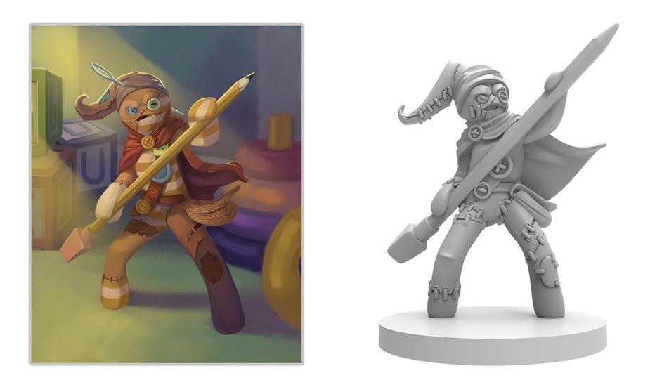 Stitch ist einer der Helden bei Stuffed Fables von Plaid Hat Games