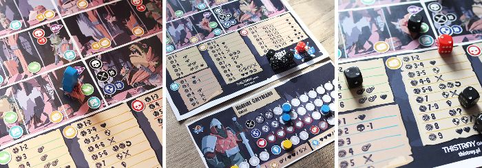 Page Quest Playtest Board and Dice