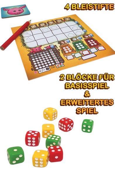 Schachtelinhalt von Würfelgemüse von Board and Dice in der Spieleschmiede