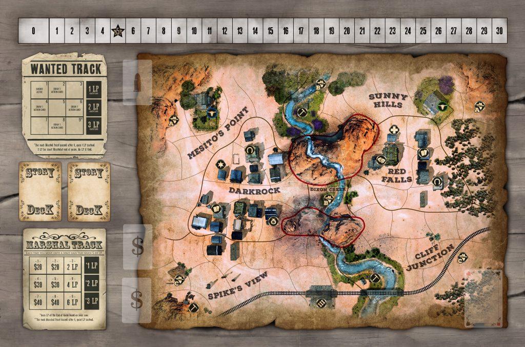 Spielplan von Western Legends bei Kolossal Games