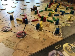 Spielplan Pioneers Queen Games
