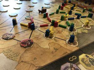 Spielplan Pioneers Queen Games