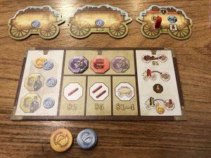 Spielertableau von Pioneers Queen Games