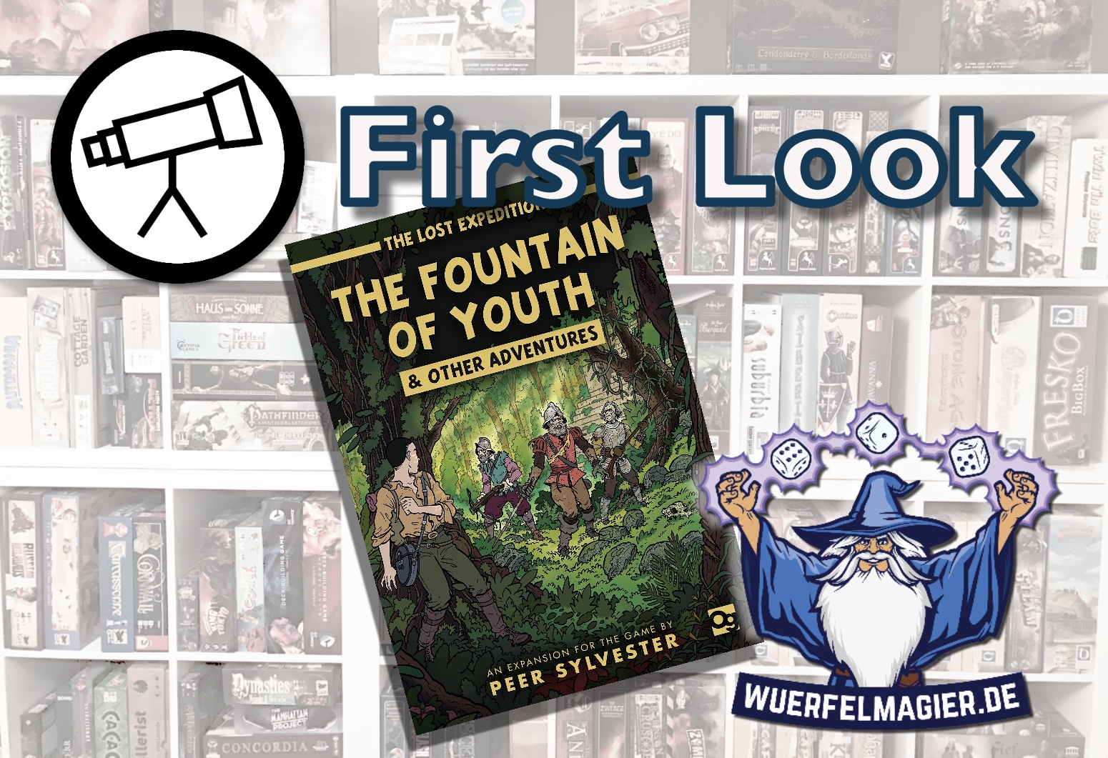Fountain of Youth osprey Games Peer Sylvester First Look Review Rzension Wuerfelmagier Würfelmagier