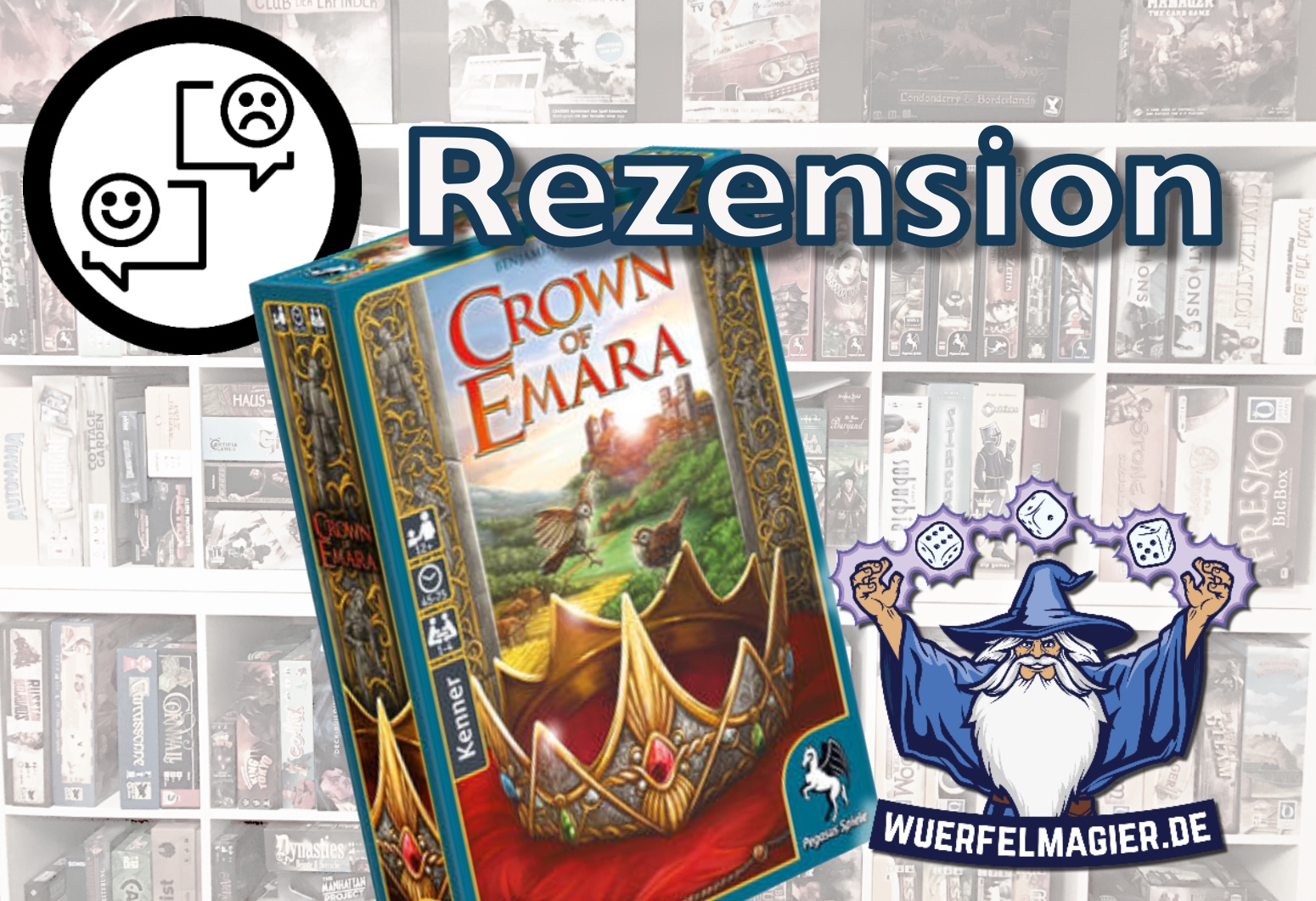 Rezension Crown of Emara Pegasus Spiele Rezension Review Wuerfelmagier Würfelmagier