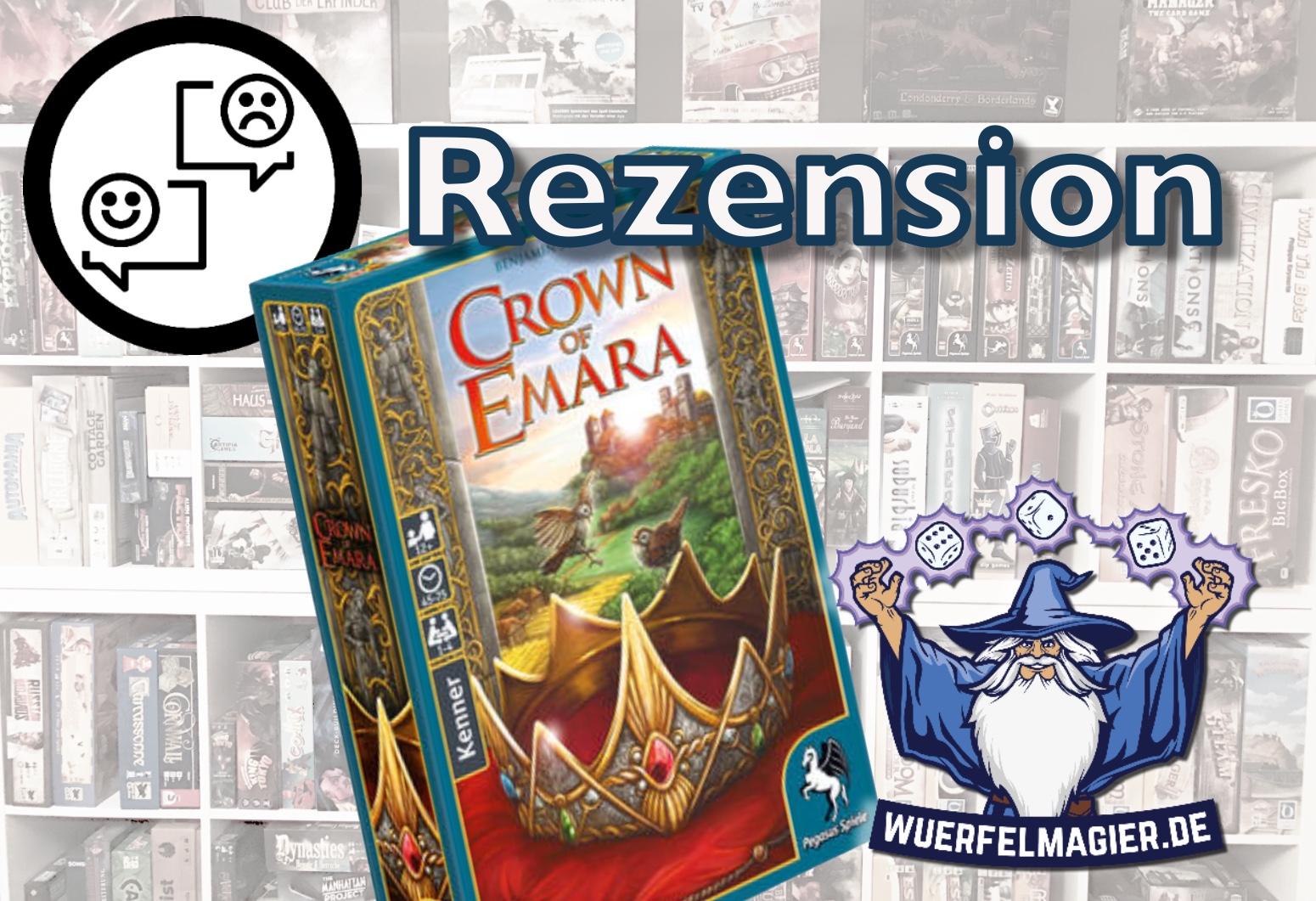 Rezension Crown of Emara Pegasus Spiele Rezension Review Wuerfelmagier Würfelmagier