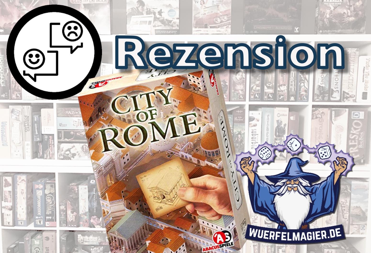 Rezension City of Rome Abacus Spiele Wuerfelmagier Würfelmagier
