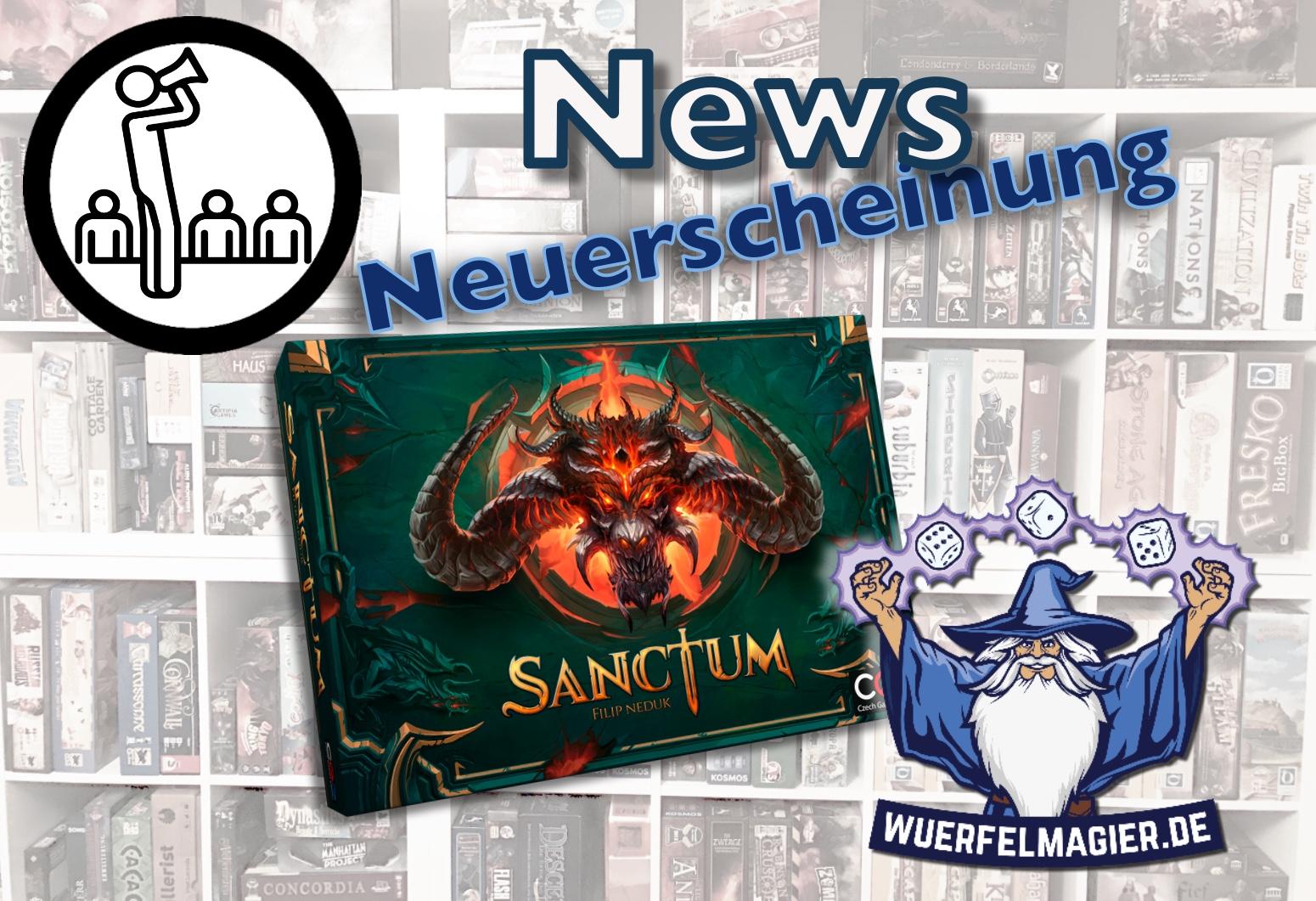 News Neuerscheinung Wuerfelmagier Würfelmagier Sanctum Czech Games Edition CGE