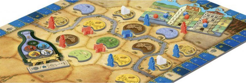 Spielbrett Spielmaterial Orléans Stories