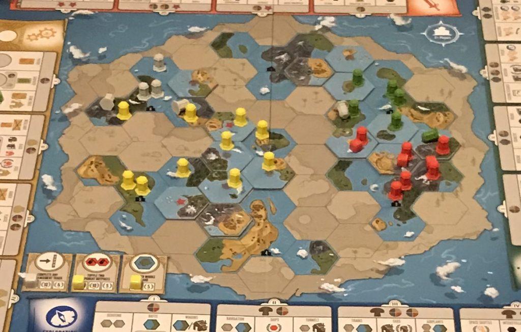 Tapestry Stonemaier Games Feuerland Spiele Hauptspielplan