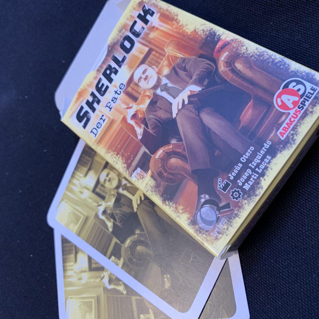 Sherlock Der Pate Abacus Spiele Schachtel und Karten