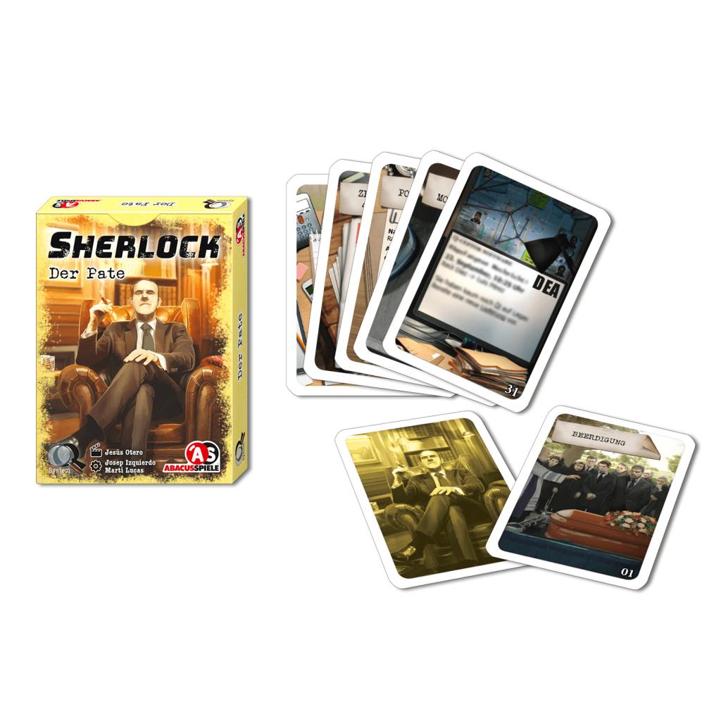 Sherlock Der Parte Schachtel und Karten Abacus Spiele