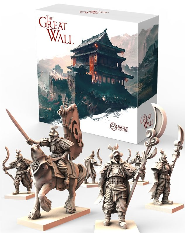 Box und Miniaturen von The Great Wall Awaken Realms