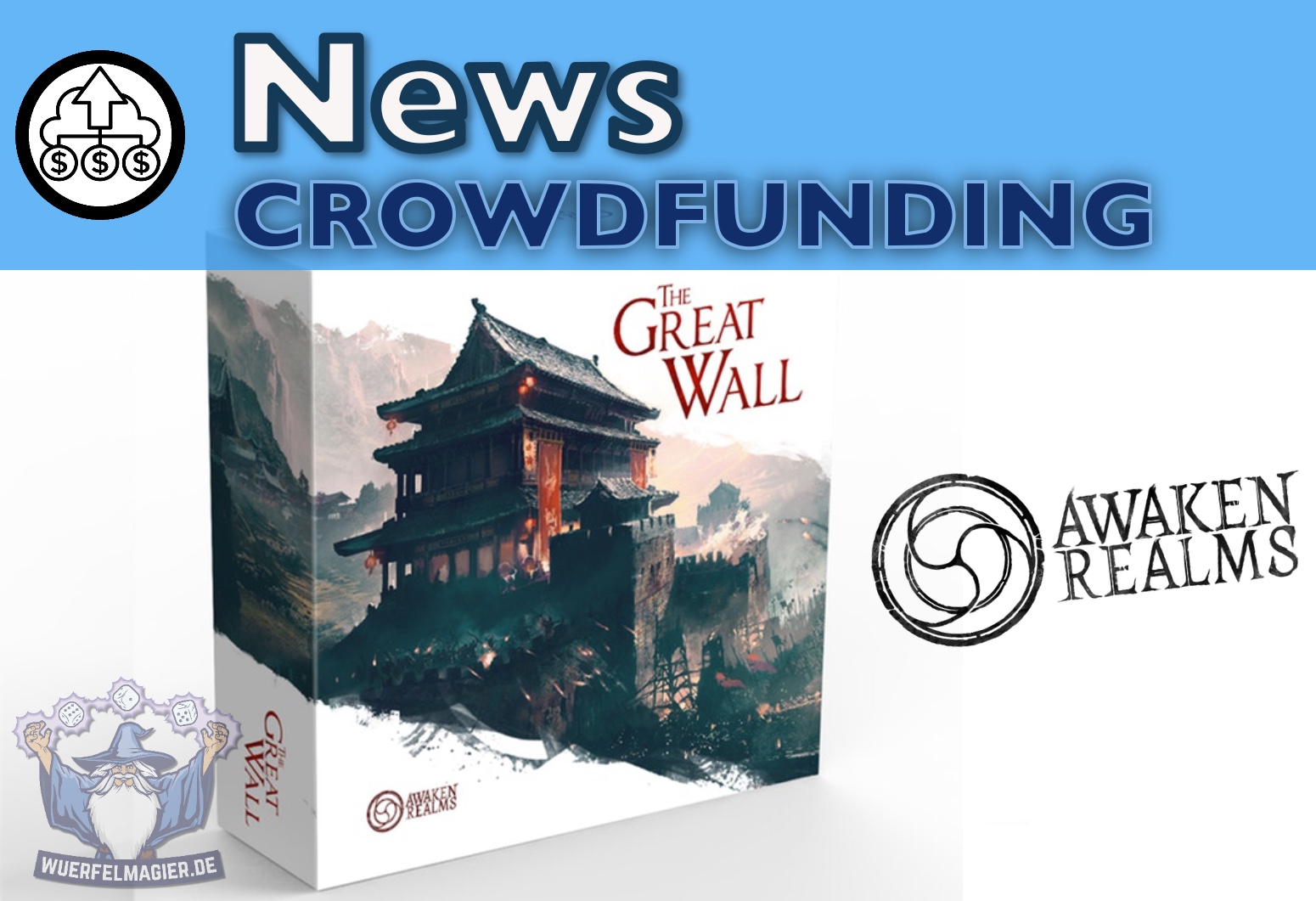 Titelbild The Great Wall Awaken Relams Crowdfunding News
